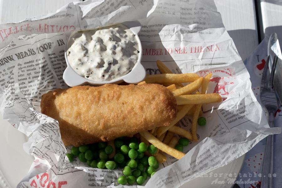 FISH & CHIPS MED REMOULADECREME