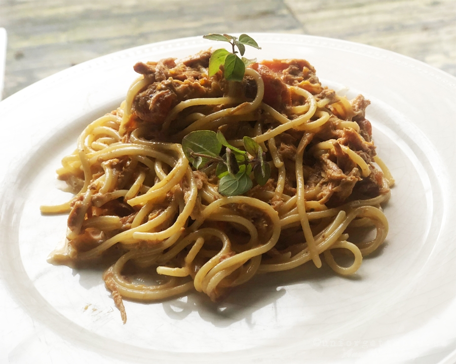 PASTA MED PULLED PORK