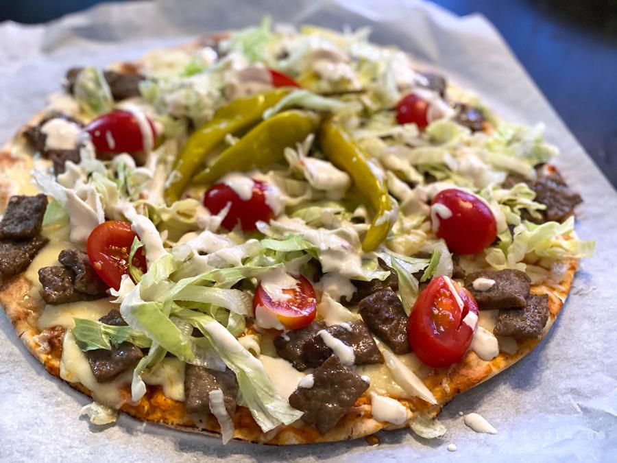 Libapizza med kebab