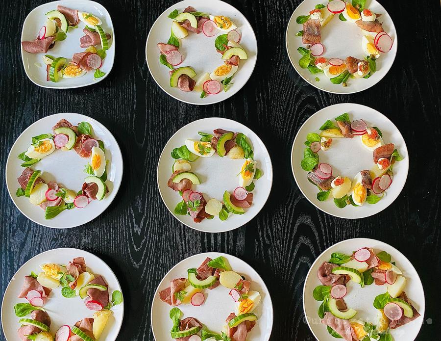 Sillkrans Midsommarkrans med matjessill & ägg