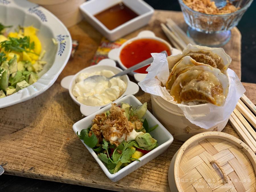 Dumplings inspo på brödbrädan