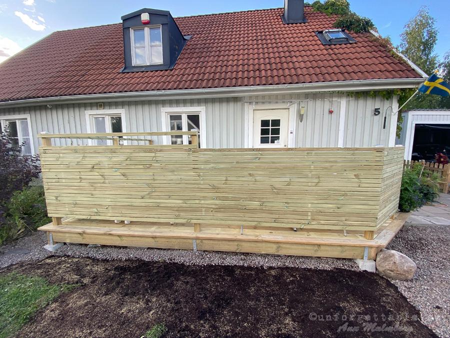 Vi bygger altan på södersidan